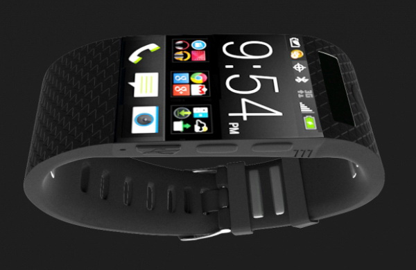 Smartwatch 3d rendering