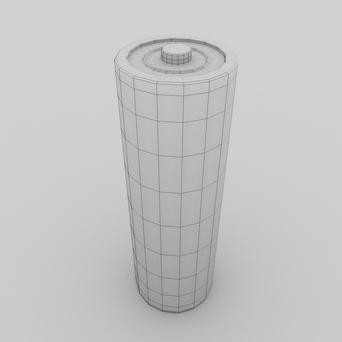 AA Battery 3d rendering