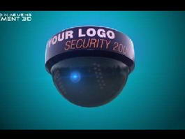 Round Security Camera 3d preview
