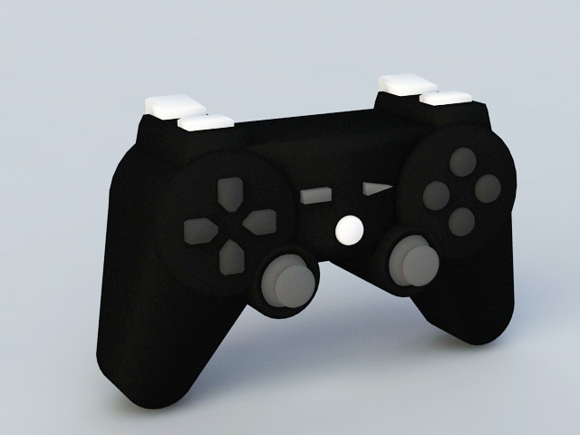 Video Game Controller 3d rendering