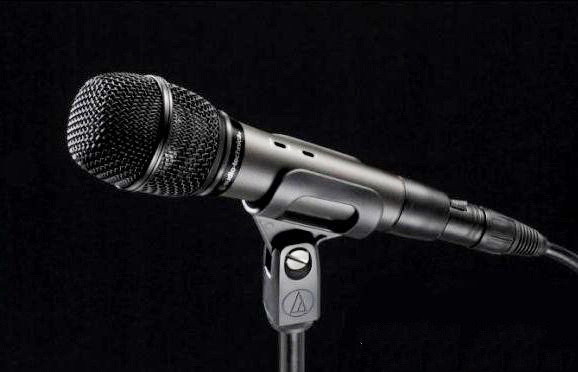 Microphone with Cord 3d rendering