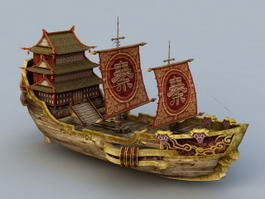 Ancient Chinese Merchant Vessel 3d preview