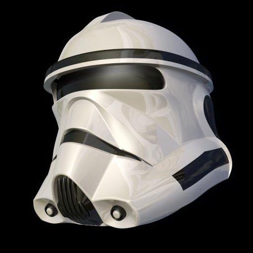 Star Wars Stormtrooper Helmet 3d rendering