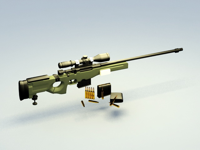 Awm Sniper Rifle 3d Model Cadnav