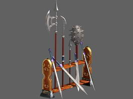 Medieval Weapon Rack 3d preview