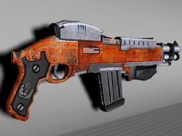 Old Assault Rifle 3d preview