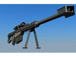 Barrett M82 Sniper Rifle 3d preview