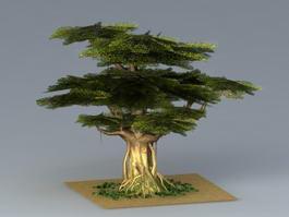 Towering Oak Tree 3d model preview