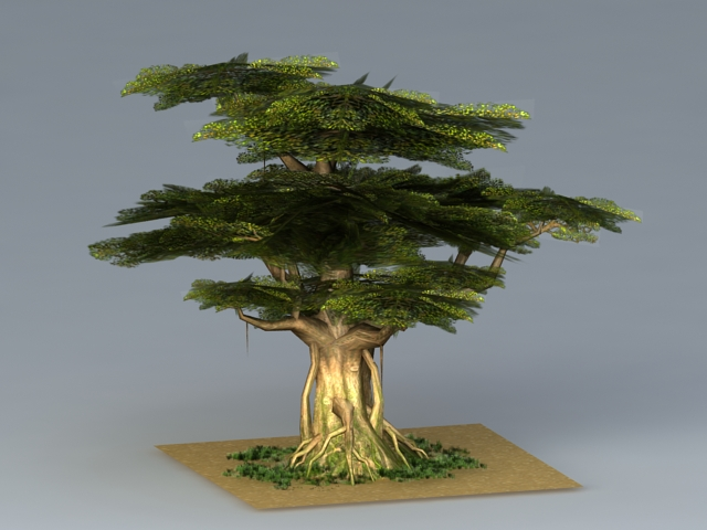 Towering Oak Tree 3d rendering