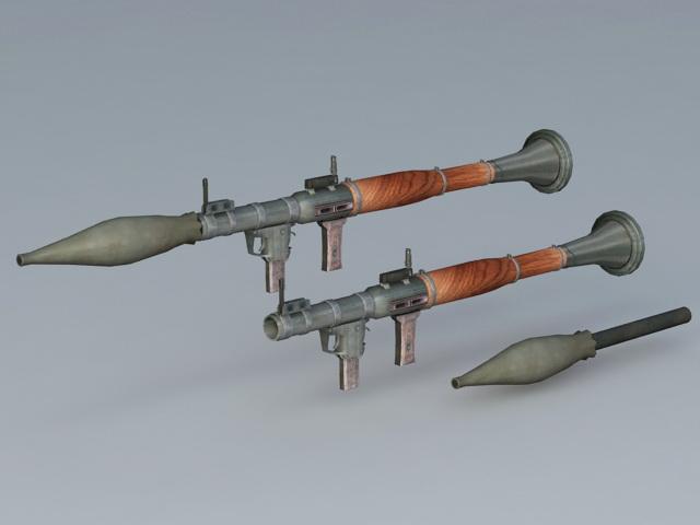 RPG-7 Launcher 3d rendering