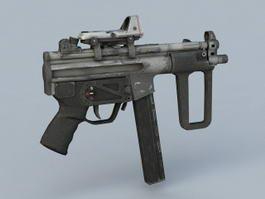 Submachine Gun Weapon 3d preview
