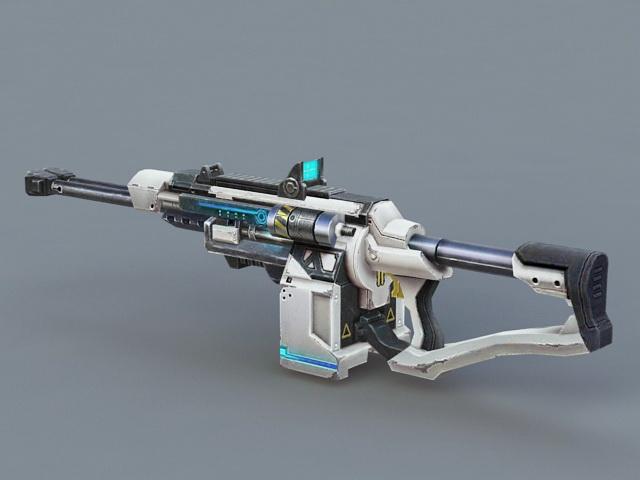 Futuristic Submachine Gun 3d rendering