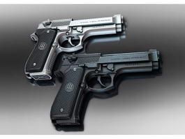 Beretta Pistol 3d preview