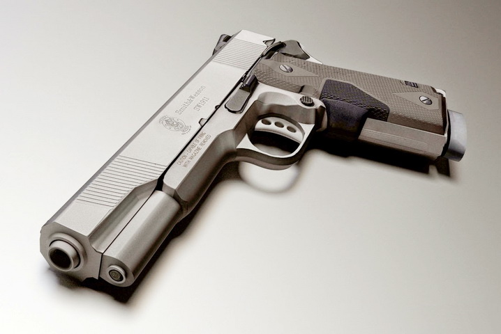 Smith & Wesson SW1911 3d rendering