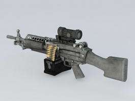 M249 Machine Gun 3d preview