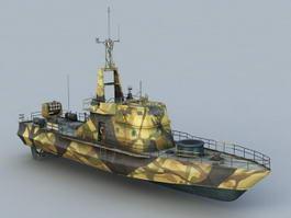 Crocodile Gunboat 3d model preview