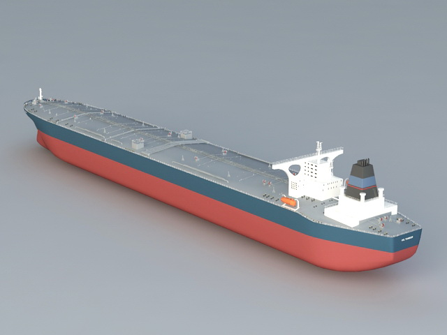 Bulk Carrier Ship 3d rendering