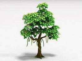Cartoon Tree 3d model preview