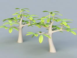 Small Cartoon Tree 3d model preview