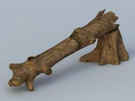 Fallen Log 3d preview