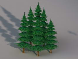 Metasequoia Trees 3d model preview