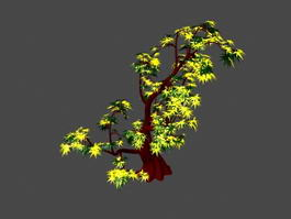 Yellow Maple Tree 3d preview