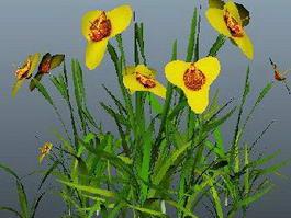 Yellow Flower Grass 3d preview