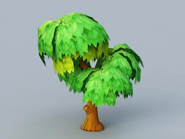 Anime Tree 3d rendering