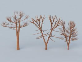 Winter Trees 3d preview