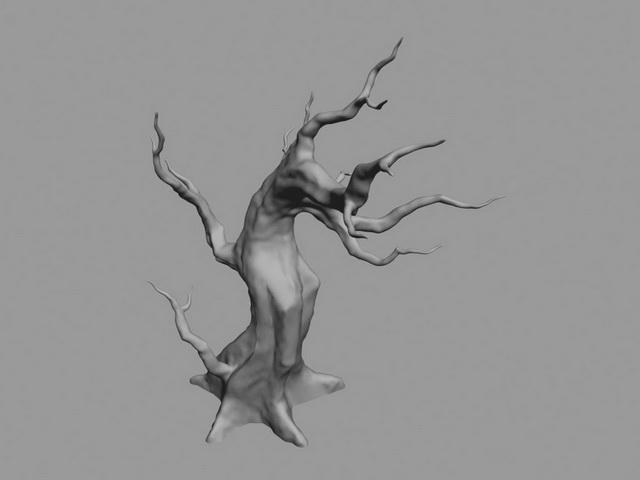 Dead Tree Cartoon 3d rendering