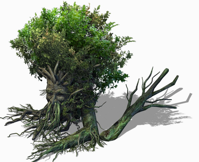 Fantasy Art Treant 3d rendering