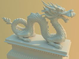 Chinese Dragon Statue 3d preview