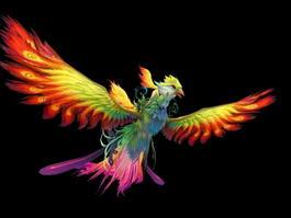 Phoenix Bird 3d preview