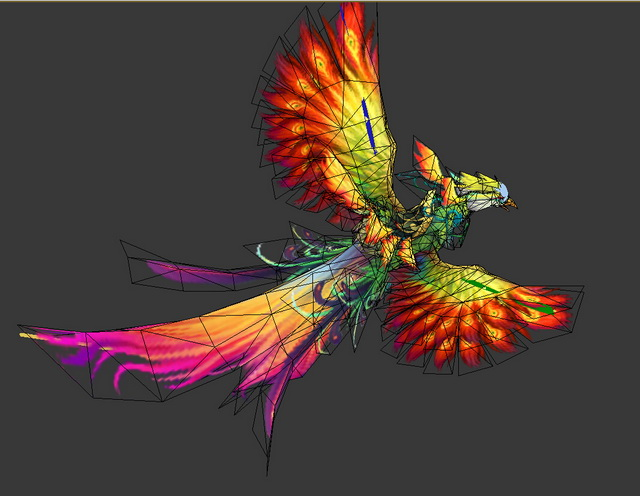 Phoenix Bird 3d rendering