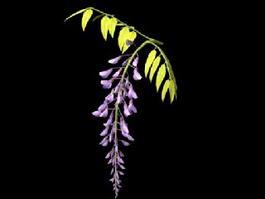 Locust Tree Flowers 3d model preview