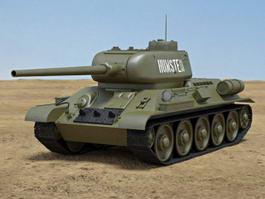 T-34-85 Tank 3d model preview