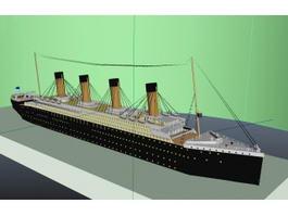 Titanic Passenger Liner 3d preview