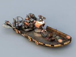 Steampunk Hovercraft 3d preview