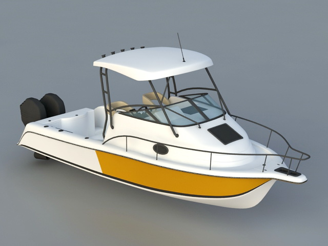 Speed Yacht 3d rendering