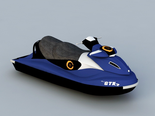 Water Scooter Jetski 3d rendering