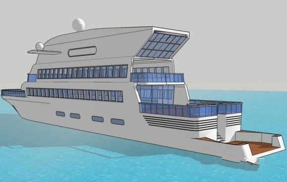 Chris Yacht 3d rendering