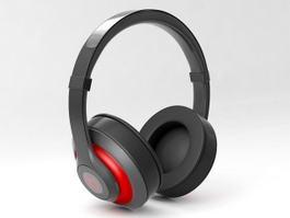 Black Headphone 3d model preview