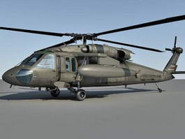 UH-60 Black Hawk Utility Helicopter 3d model preview