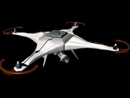 Drone with Camera 3d preview