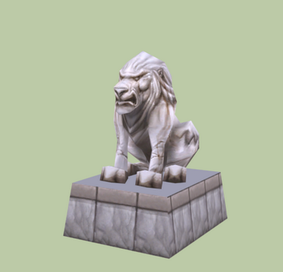 Chinese Lion Statue 3d rendering