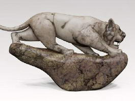 Stone Tiger Statue 3d preview