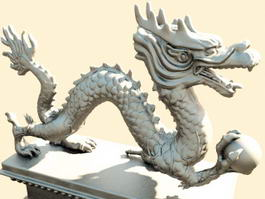 Traditional Chinese Dragon Sculpture 3d model preview