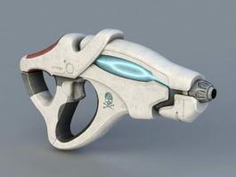 Sci-Fi Pistol 3d model preview