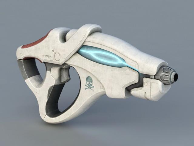 Sci-Fi Pistol 3d rendering