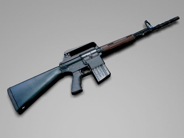 AR-10 Battle Rifle 3d rendering